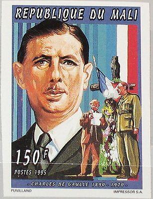 Aggressiv Mali 1995 1456 B 749 Imperf President Charles De Gaulle Wwii Leader General Mnh