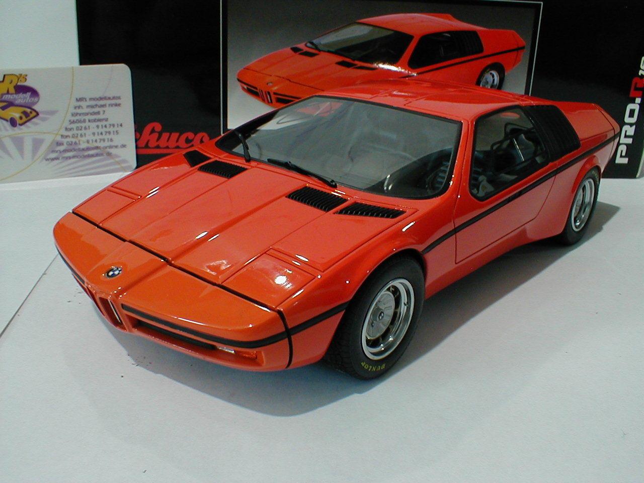Schuco ProR 00089   BMW Turbo X1 Studie Baujahr 1972 in   Orange   1 18  NEU