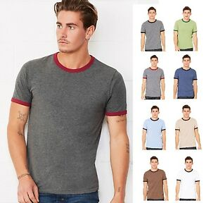 Bella-Canvas-Mens-Heather-Ringer-Jersey-Tee-Tshirt-T-Shirt-C3055-3055-8-COLORS