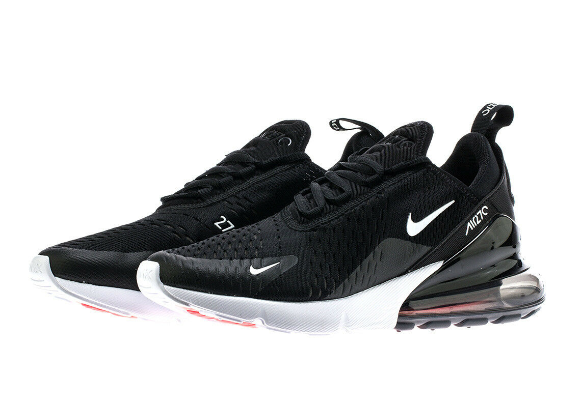 Nike Air Max 270  Black White  AH8050-002 Men's Running shoes 100% AUTHENTIC USA