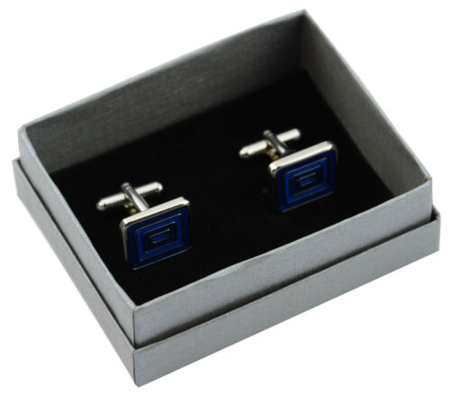 100 x High Quality Silver Cufflink Gift Boxes Lift off Lid