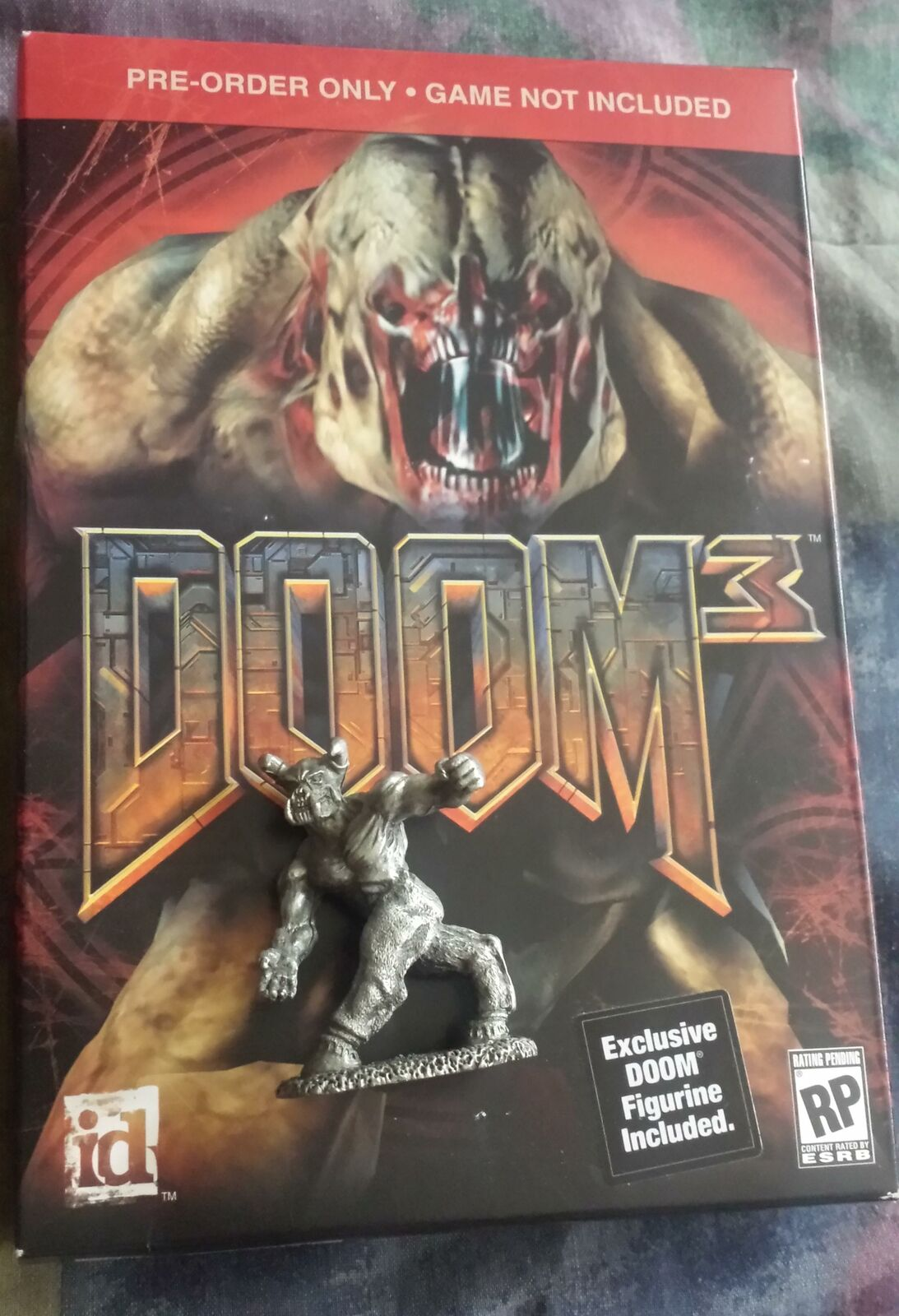 Doom Baron del infierno Estaño Reaper Miniatures ID Software 66612 con Doom 3 preorbox
