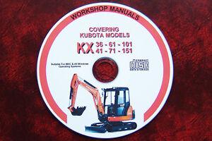 KUBOTA-KX36-KX41-KX61-KX71-KX101-KX151-MINI-DIGGER-EXCAVATOR-WORKSHOP-MANUAL