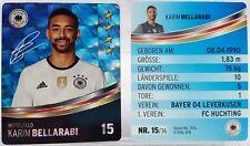 REWE Fussball EM 2016 EURO Sammelkarte - GLITZER Nr. 15 Karim BELLARABI
