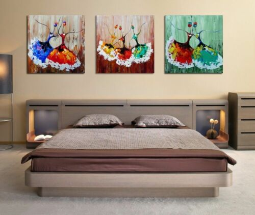 CHENPAT155 hand-painted modern 3pcs abstract character oil painting  on canvas