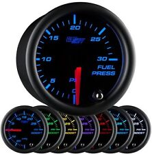 52mm GLOWSHIFT BLACK 7 30psi DIESEL FUEL PRESSURE GAUGE for 5.9L CUMMINS