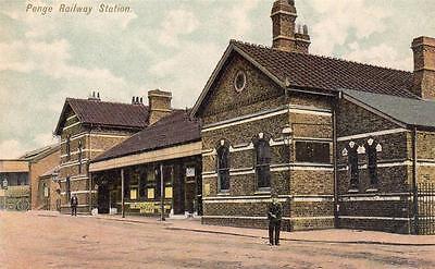 Penge Railway Station Nr Beckenham Bromley unused old pc Canon Series