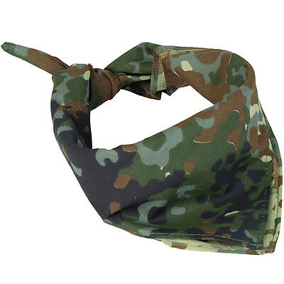 Army FLECKTARN CAMO BANDANA - 100% Cotton Camouflage Military Neckerchief Scarf