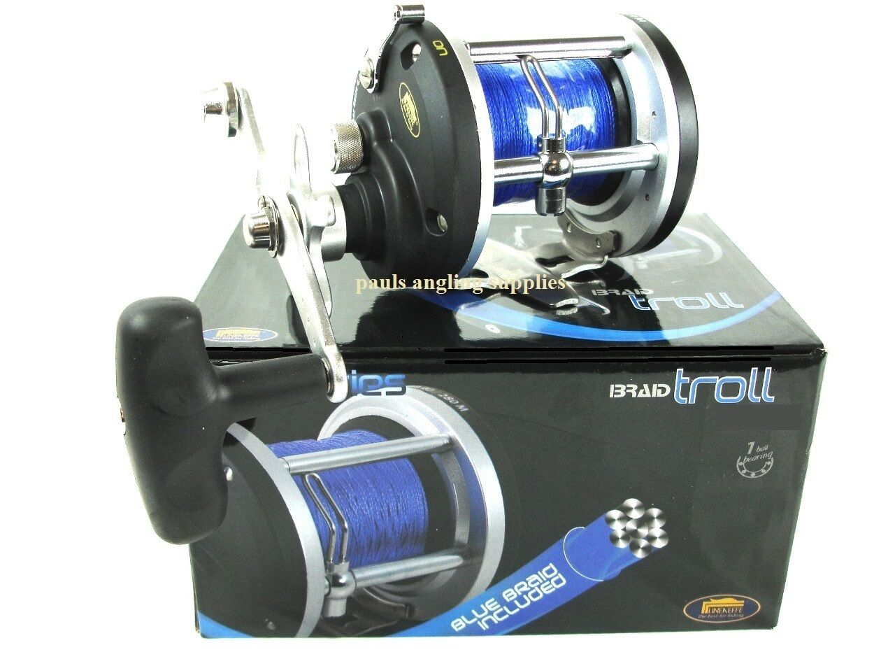 Lineaeffe Boat Multiplier Reel Free Braid Fitted Sea Fishing Saltwater Treated