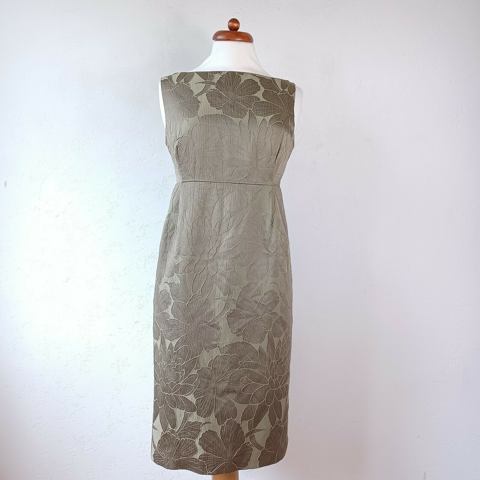 BNWT Laura Ashley Floral Jaquard Shift Dress Size 14 Mother Of The Bride Wedding