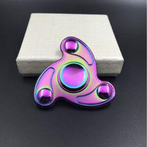 Fidget-Finger-Spinner-Hand-Spin-EDC-Bearing-Focus-Stress-Kid-Toy-Rainbow-UK