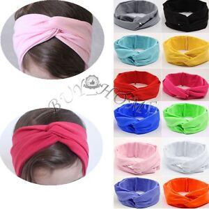 Wrap-Baby-Kids-Toddlers-Bow-Knot-Hair-Headband-Elastic-Headwear-Hair-Accessories