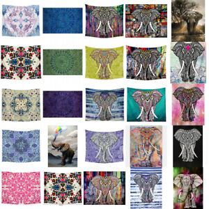 Mandala-Elephant-Boho-Tapestry-Hippie-Wall-Hanging-Bedspread-Throw-Cover-Decor