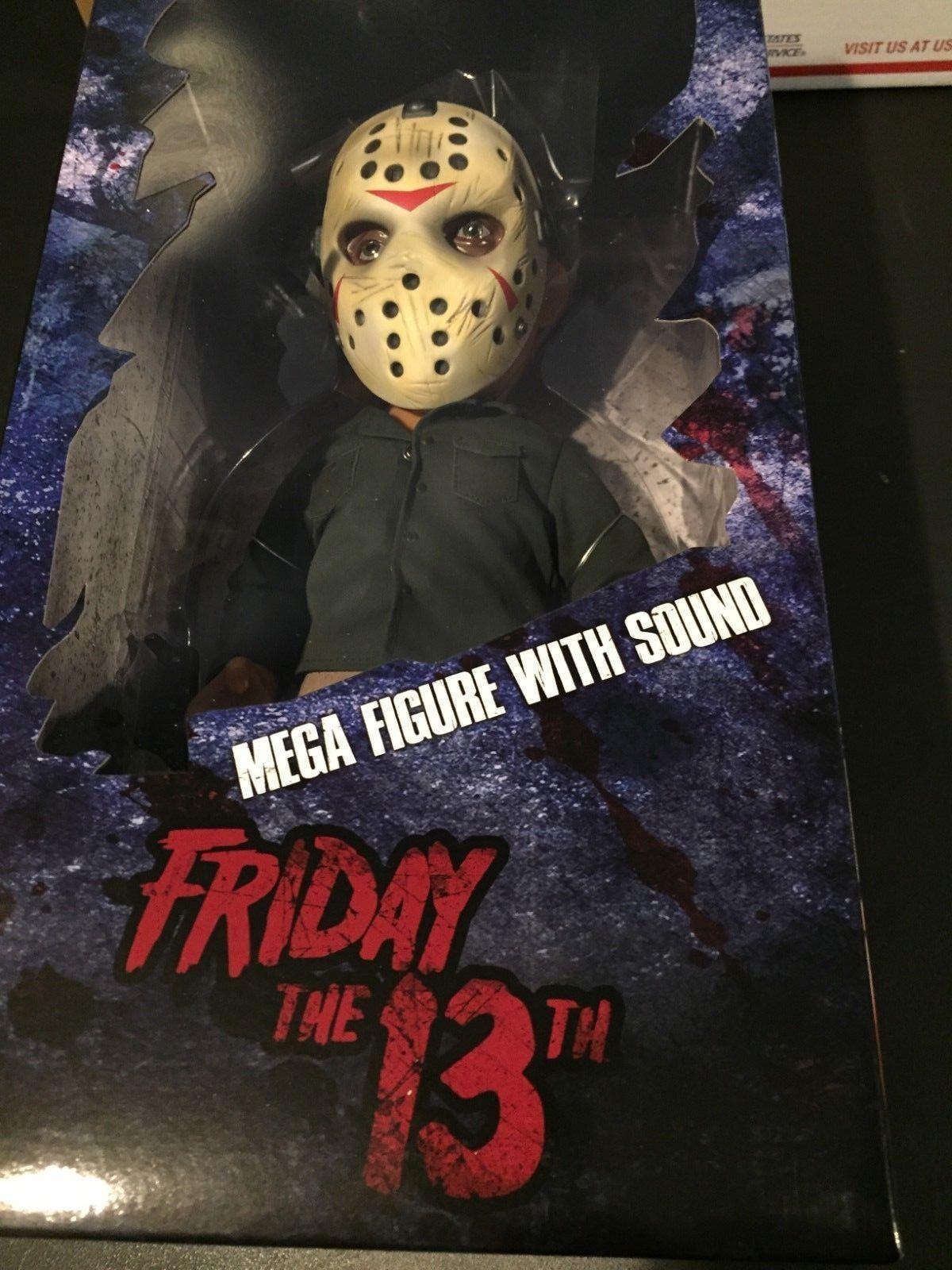 Jason Voorhees Mezco Viernes 13th 15  Mega Figura Muñeca con Sonido Nuevo En Caja