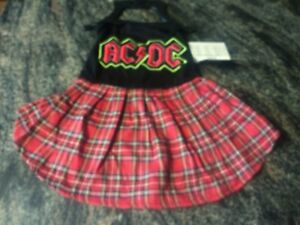 4b4d48b099 AC/DC Pet Dog Apparel FabDog Costume Outfit NWT Small Medium Large ...