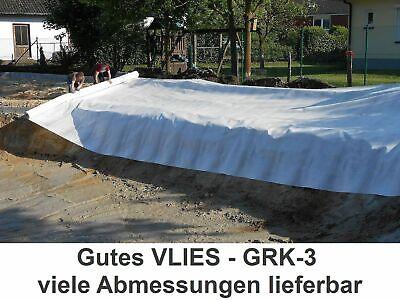 1800 N ** 4m ODER 5m BREITE ** Teichvlies GRK-3 Teichbau Gartenbau Vlies