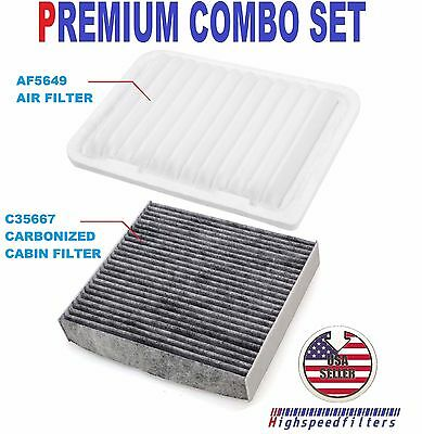CABIN FILTER COMBO FOR 2009-2016 TOYOTA VENZA 2.7L PREMIUM AIR FILTER