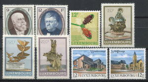 Luxembourg-1990-Mi-1245-1252-Neuf-100-Personnalite-Art-vues