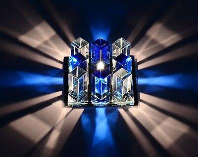 Modern Blue Crystal LED Ceiling Light Pendant Lamp Fixture Lighting Chandelier