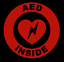 thumbnail 2 - AED Inside Circle Emblem Vinyl Decal Window Sticker Car