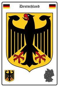 Alemania-Escudo-Letrero-de-Metal-Arqueado-Tin-Sign-20-X-30CM