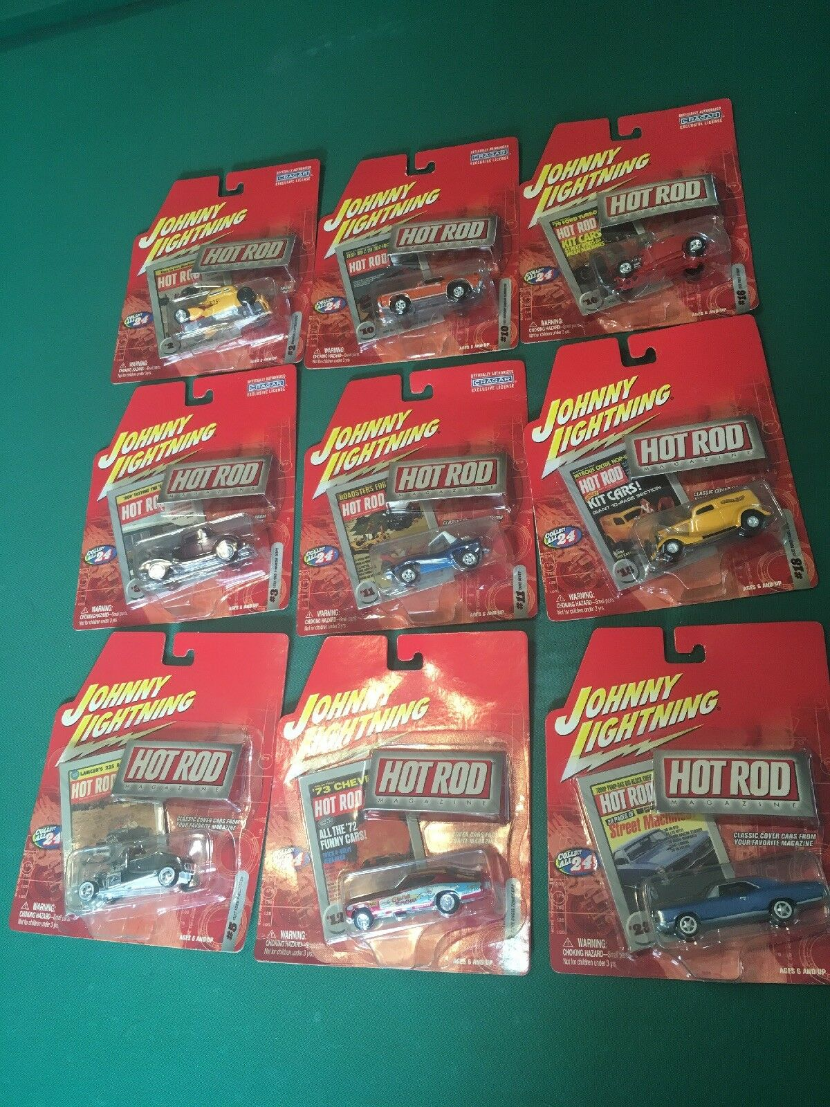 JOHNNY LIGHTNING  Hot Rod Magazine Die-Cast  2003 (9) Cars Out Of 24