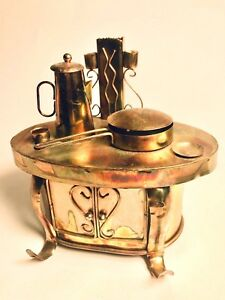 Music-Box-RETRO-STOVE-Animated-Unique-Metal-OH-WHAT-A-BEAUTIFUL-MORNING-8-034-x7-034