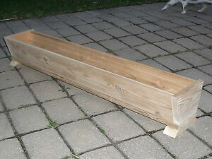 48034 CEDAR WOOD FLOWER BOX PATIO PLANTER BOX DECK GARDEN YARD