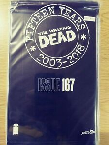 WALKING-DEAD-167-NM-15-YEAR-ANNIVERSARY-BLACK-POLYBAGG-SEALED-PA11-350