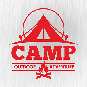 CAMP-Outdoor-Adventure-Camping-Camper-Rot-Red-Auto-Vinyl-Decal-Sticker-Aufkleber