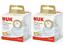 2x NUK Nature sens Twin Pack silicoone Bouteille Bébé Tétines S//M//L 6-18 M Entièrement neuf dans sa boîte