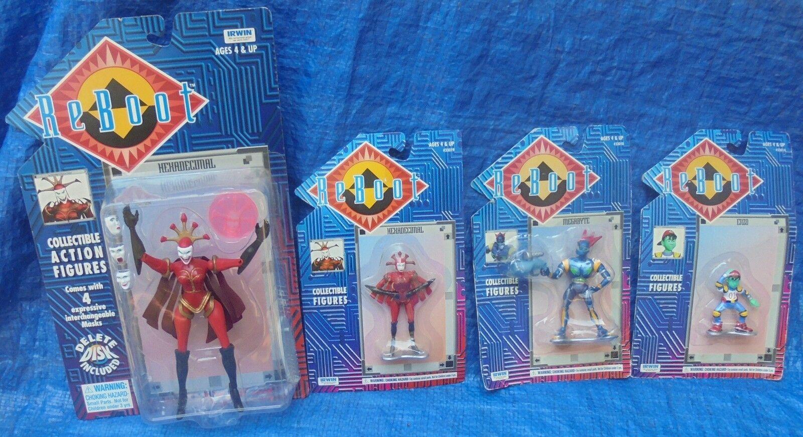 Reavvio Action & PVC Figure MOC MIP Lot Irwin Toys 1995 Hexadecimal Enzo Megabyte
