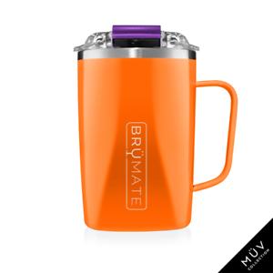 BRUMATE TODDY Mug 16 oz Leak proof Locking Lid hot or cool - ORANGE & PURPLE