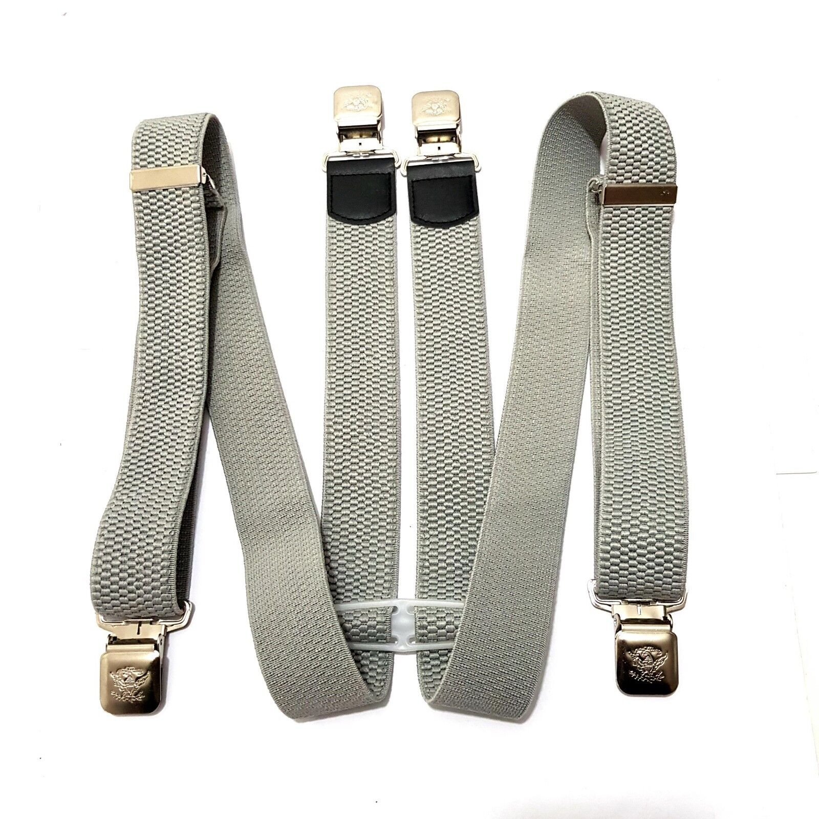 Suspenders with Extra Strong Clips Fashion Eagle Belt Trousers Braces Clip