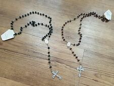 rosary beads cross job lot Clarence chains End of Line Jesus 12pcs mixed colours