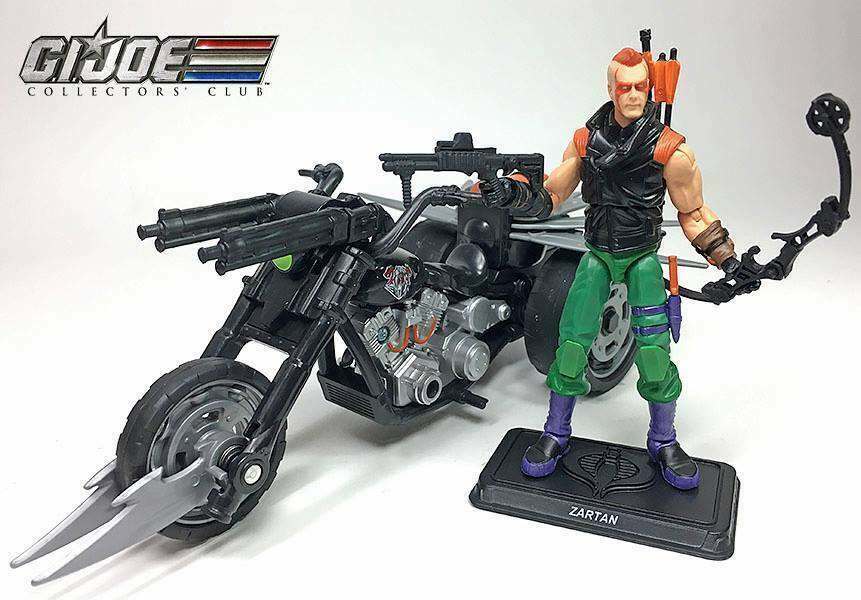 2018 GIJoe Club Exclusive Ninja Force Zartan w  Cold Slither Cycle - In Hand