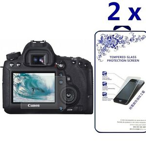 Details about [2x] Tempered Glass Screen Protector For Canon EOS 7D Mark II  / 70D / 80D
