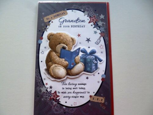 GRANDSON BIRTHDAY EXTRA LARGE CARD WITH LOVELY VERSES