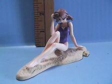 "Pia Carrot Anime 3""in Long Girl at the Beach Purple Bikini Catching Some Rays!"