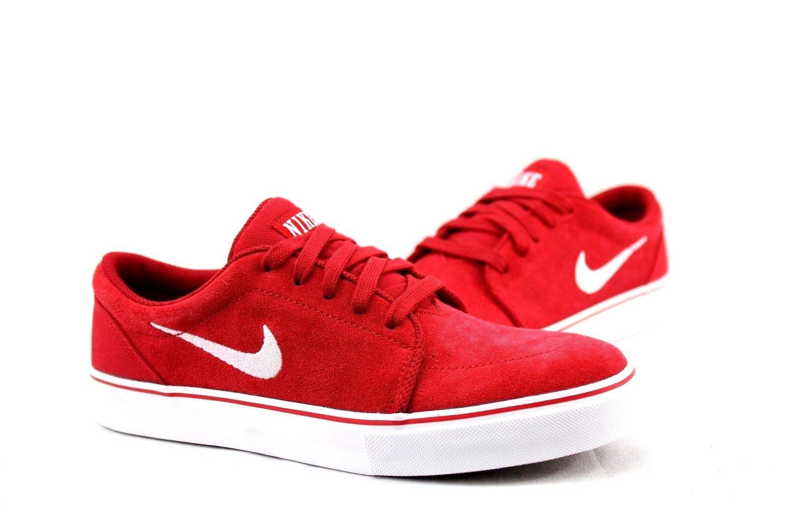 Nike SB Satire 536404-610 GYM RED/WHITE Size: 7