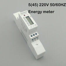 5(45)A 230V 45A Single phase Din rail KWH Watt hour din-rail energy meter LCD