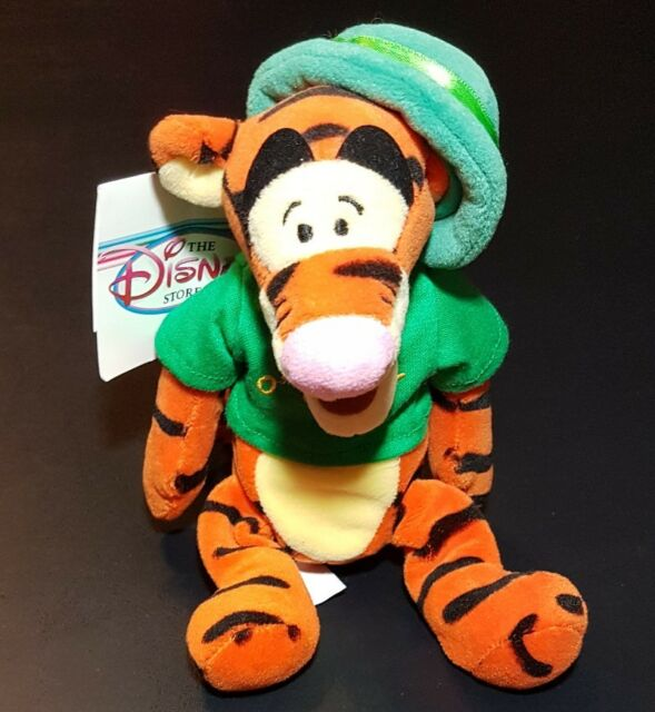 DISNEY WINNIE THE POOH/'S FRIEND TIGGER ST PATRICKS DAY O/'TIGGER BEAN BAG PLUSH