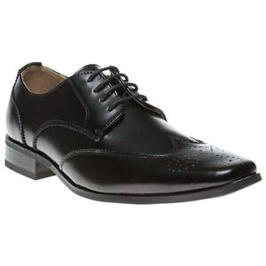 Peter Werth Chisel Point Wingtip Hombre Zapatos Negro MhuEc
