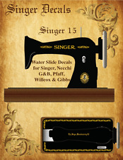 Singer Model 15 Sewing Machine Restoration Decals