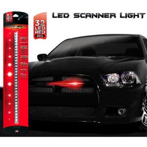 Led-Scanner-Stile-Auto-KITT-Supercar-Striscia-32-led-rosso-40cm-RIDER-NIGHTZ
