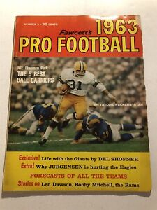 1963-Pro-Football-GREEN-BAY-Packers-JIM-TAYLOR-5-Best-Runners-NFL-AFL-Preview