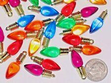 10pc Christmas Lot Lights bulb charm beads little dangle findings *~