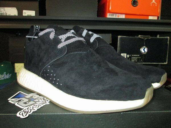 SALE ADIDAS NMD CS2 C2 RUNNER BLACK SUEDE WHITE BY3011 Price reduction Wild casual shoes