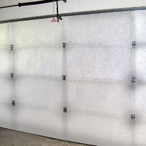 Reflective white single car garage door insulation foam core kit