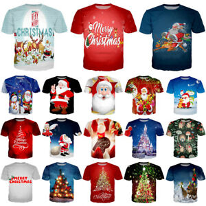 New Funny Christmas Tree 3D Print T-Shirt Women Men Casual Short Sleeve Tee Gift